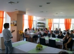 D-r Gaudurkov, guest lecturer during the Bulgarian healing systems week